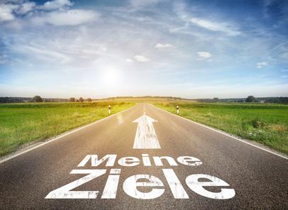 """Strasse mit """"Meine Ziele"""""""