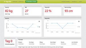 Screeshot der neuen App für die 21 Tage Diät